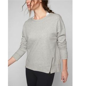 ATHLETA Cityscape Sweatshirt zip side embellished